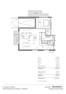 Grundriss Großzügiges Wohnen in 2 Räumen auf ca. 90qm mit fast 200qm Süd-West-Garten in Sendling-Westpark und 300m zur U6/Partnachplatz
