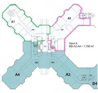Grundriss 1 OG A1,A2,A3 Top-Büros vor Münchens Toren