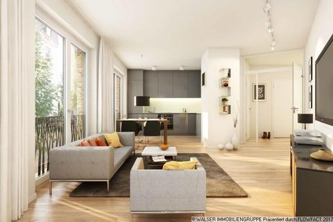 Stylisch und modern Wohnen Gallusviertel: Kompakte und aussergewöhnliche 1,5-Zimmerwohnung mit Loggia
