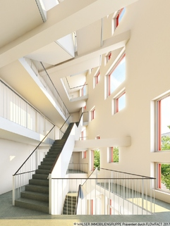 Haupttreppenhaus Modernes Studenten-Apartment zum grünen u. ruhigen Innenhof - ERSTBEZUG!!!