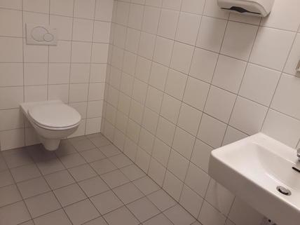 WC mit Waschbecken Ausstellungsfläche/Büro/Schauraum im BIZ Wels