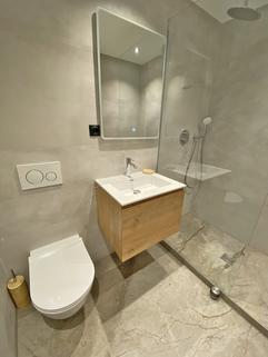 Duschbad Erstbezug nach Sanierung 1-Zimmer-Wohnung Bestlage Menterschwaige