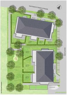 Freiflächenplan Premium 3 Zi. DG-Wohnung mit ca. 109m² Wfl, grosser Dachterrasse und 2x TG-Platz. Nur 2 Min. zur A9.