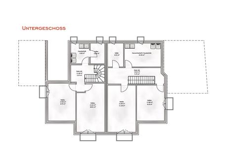 Das Untergeschoss mit Hobbyraum Verkauft: Sehr große und modern geplante Doppelhaushälfte in OTTOBRUNN
