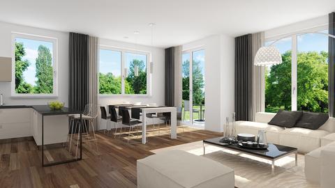 Illustration WHG 1 Neubau: 3 Zimmer Gartenwohnung mit Hobbyraum,2 Bädern und Privatgarten!