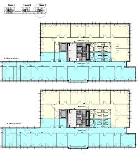 Grundriss 3 + 4 OG Haus 3 Attraktives Büro am Hirschgarten