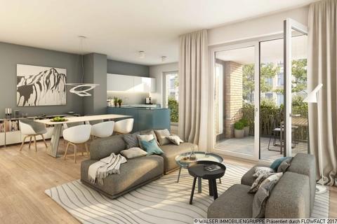 Beispielwohnzimmer Kompakte schnittige 2-Zimmer-Wohnung mit Loggia