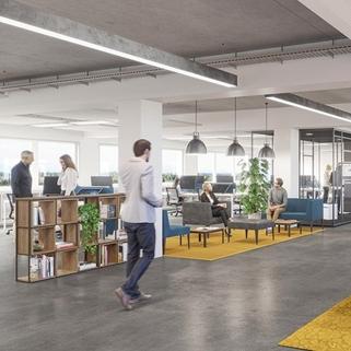 Innen Visualisierung 1 Stylische Büros ... Direkt an der U-Bahn