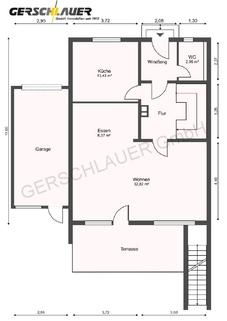 Grundriss Erdgeschoss Große Doppelhaushälfte in der Hammerschmiede