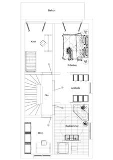 Grundriss OG Neubau einer attraktiven Doppelhaushälfte in Großhadern-Blumenau