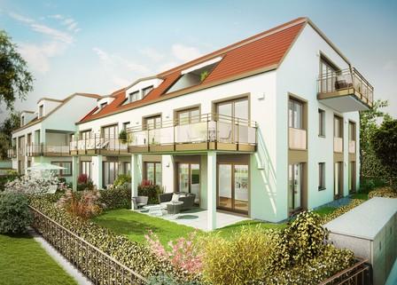 Ansicht 02 - Illustration - Änderungen vorbehalten Erstbezug - barrierefreie EG-Wohnung mit Garten