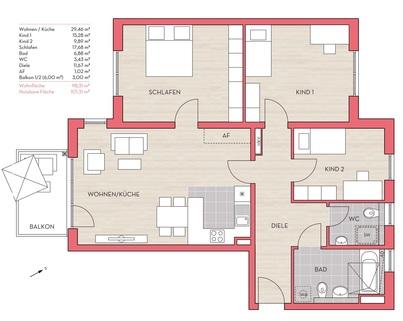 Wohnung 20 3,5-Zimmer-Wohnung in Kirchtrudering - Neubau!