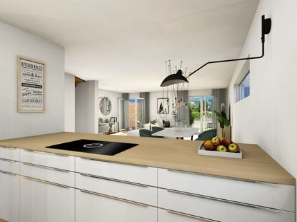 0221RG Küche Neubau einer attraktiven Doppelhaushälfte in Großhadern-Blumenau