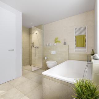 Illu Bad Neubau - großzügige Maisonnettewohnung in super Lage