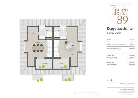 Dachgeschoss Großzügiges Doppelhaus mit 5 Zimmern, Hobbybereich und Garten