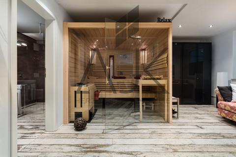 Saune Hobbyraum Exklusive 3,5 Zimmer Gartenwohnung mit Souterain, Sauna und Privatgarten verkauft.