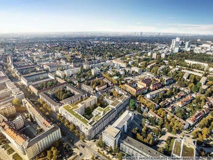 Lageplan Einmalige Gelegenheit: Großzügige 4-Zimmer-Wohnung mit Westbalkon und zwei Bädern in Bogenhausen