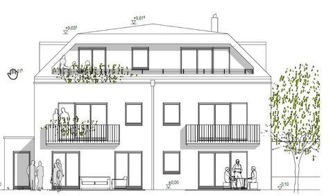 Hausansicht_Westseite Solln im Erstbezug - gut geschnitte Stadtwohnung mit modernem Wohnkomfort