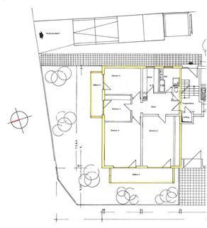 Grundriss 4–Zimmer-Wohnung im Zentrum