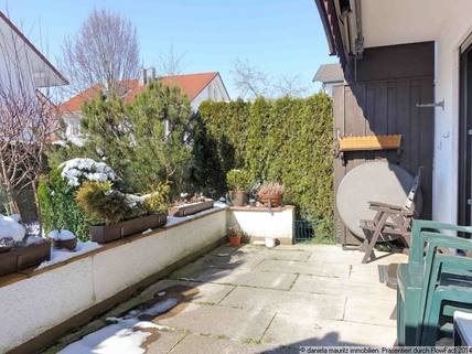 Schöne Terrasse Ansprechende Terrassenwohnung mit drei Zimmern in ruhiger Lage