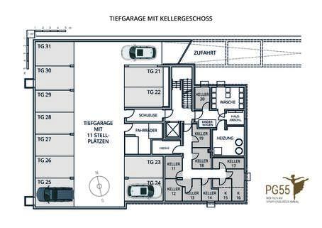 Tiefgarage Traumhafte Dachgeschosswohnung im Erstbezug mit Aufzug!