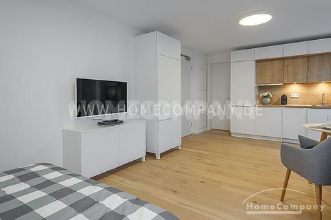 Wohnen Erstbezug! Modern und exklusiv möbliertes 1-Zimmer-Apartment mit Balkon in Harlaching