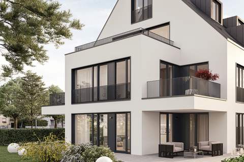 Ansicht Etagenwohnung (Illustration) Neubau: Hochwertig ausgestattete 4-Zimmer-Wohnung mit idealem Grundriss und Balkonen