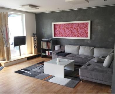Wohnzimmer Schicke Doppelhaushälfte mit schönem großem Garten