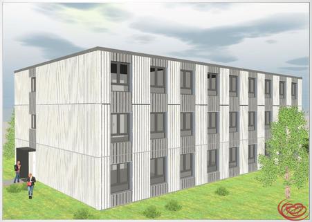 Timber Business Center Timber Business Center - Ihr modulares Büro in Holz an der A94 und an der Bahn+++