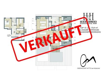 TOP15_Grundriss_verkauft TOP 16: Penthouse-Maisonette-Wohnung im DG und 3.OG