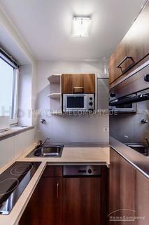 Küche Möbliertes Appartment im Münchner-Westend mit wöchentlichem Wäschewechsel