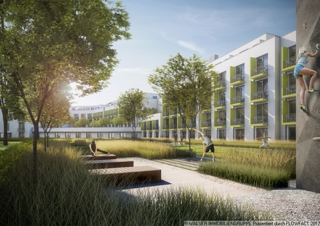 Grüne Oase Traumhaft: NEUBAU-DACHGESCHOSS-Apartment *NUR für Studenten und Auszubildende*