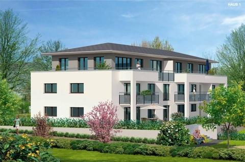 Illustration Haus-1 Premium 3 Zi. DG-Wohnung mit ca. 109m² Wfl, grosser Dachterrasse und 2x TG-Platz. Nur 2 Min. zur A9.