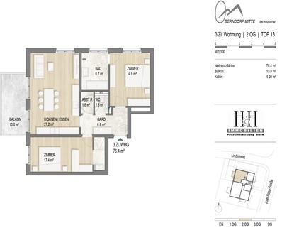 Grundriss_OM_TOP13 NEUBAU Eigentumswohnung - 3 Zimmer mit KAISERBLICK