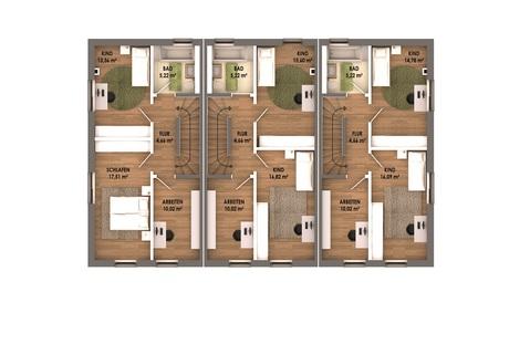 Obergeschoss Geräumige, attraktive Neubauhäuser im Labertal