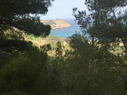 Blick vom Grundstück Mallorca, Costa Canymel, 11.500 m² Baugrundstück mit Traumblick auf die Bucht