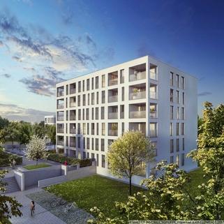 Außenansicht Traumhafte 2-Zimmer-Wohnung mit Westausrichtung im 5. OG – Erleben Sie Großzügigkeit!