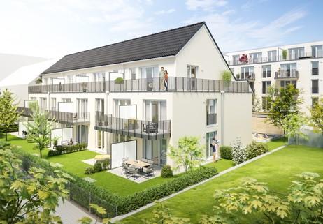 Ansicht Gartenhaus Traumhafte Gartenwohnung mit Terrasse in Westausrichtung