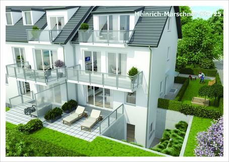 Illustration Maisonettewohnung Neubau in Vaterstetten: 3-Zimmerwohnung zzgl. Hobbyraum und Privatgarten