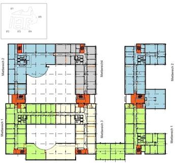 Grundriss BT3+4 1 OG Dynamisch im Münchner Osten ... Bürocampus hell, modern und neu revitalisiert