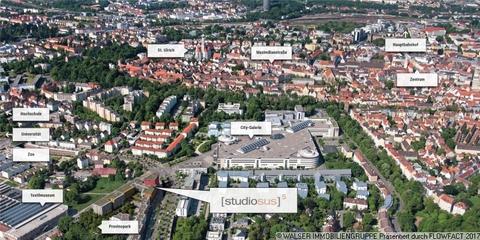 Umgebungs-Stadtplan Modernes Studenten-Apartment zum grünen u. ruhigen Innenhof - ERSTBEZUG!!!