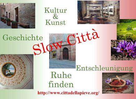 SLOW Cittá FRÜHLINGSPREIS: SLOW Città - Umbrien - Wohnen im mittelalterlichem Haus
