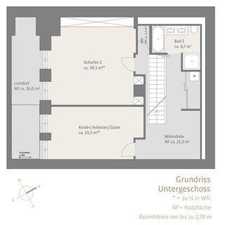 Untergeschoss Herrschaftliche Maisonette-Wohnung mit Garten