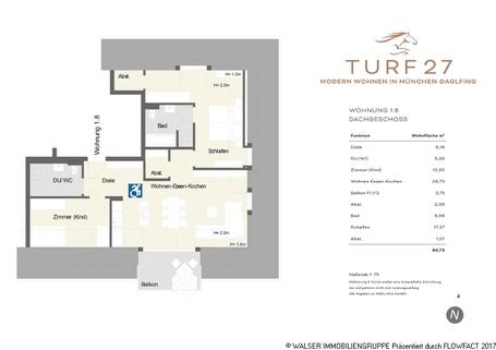 Grundriss Turf27 Whg 18 WALSER: Großzügige Dachgeschosswohnung mit Flair