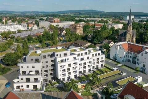 Ansicht Luftbild 1 StattHaus - Leben im Herzen Forchheims