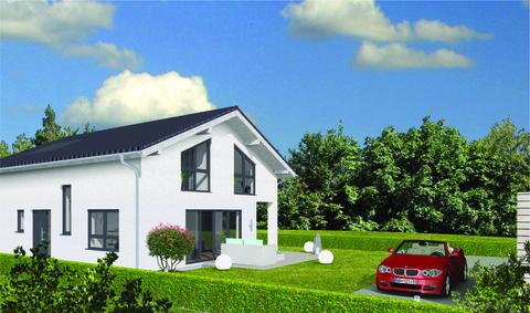 Haus- und Gartenansicht GEO WOHNBAU: Dieses freistehende Einfamilienhaus besticht durch viele Vorzüge …