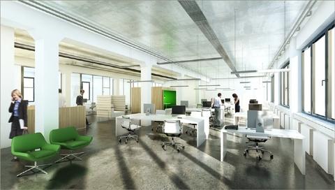 Großraum Visualisierung STOCK - Top moderne Büroflächen in München-Haar