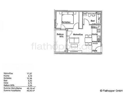 Bild 13 FLATHOPPER.de - Elegante 2-Zimmer-Wohnung mit Stellplatz und Balkon in München - Riem