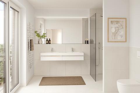 Badezimmer (Illustration) Neubau: Exklusiv ausgestattete 4-Zimmer-Wohnung mit zwei Balkonen