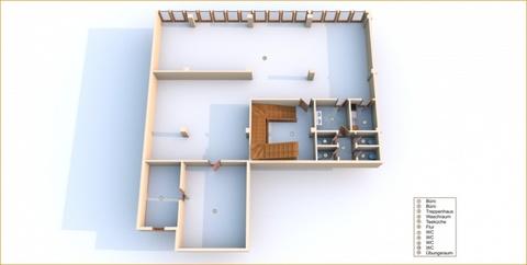 3D Grundrisse Große Gewerbeeinheit mit attraktiver 218 m² Fläche in zentraler Rostocker Stadtlage.